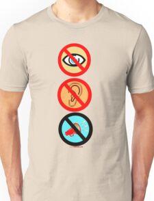 See/Hear/Shout No Evil Design  Unisex T-Shirt