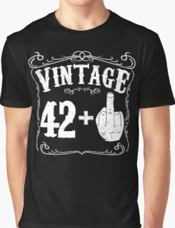 Vintage middle finger salute 43rd birthday gift funny 43 birthday 1973 Graphic T-Shirt