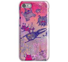 levitating monsters iPhone Case/Skin