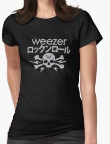 Weezer Japan Skull Womens Fitted T-Shirt