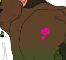 kiss my ass  Sticker