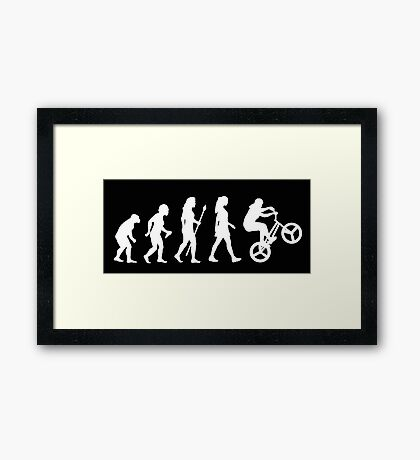 BMX Womens Stunt Silhouette Evolution Framed Print