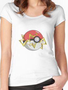 #TeamInstinct Pokeball Women's Fitted Scoop T-Shirt