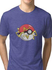 #TeamInstinct Pokeball Tri-blend T-Shirt