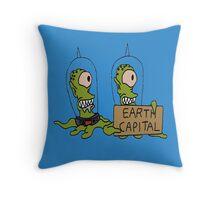 Earth Capital Throw Pillow