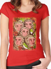 Macaques! Women's Fitted Scoop T-Shirt
