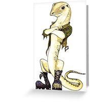Guerrilla Goanna Greeting Card