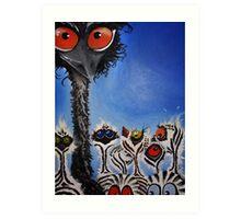 Daddy Emu Art Print