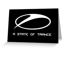 A STATE OF TRANCE transparant Greeting Card