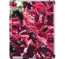 Texture with pink purple leaves. iPad Case/Skin