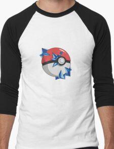 #TeamMystic Pokeball Men's Baseball ¾ T-Shirt