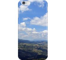 Natural scenery with the hills of San Marino and cloudy sky. iPhone Case/Skin
