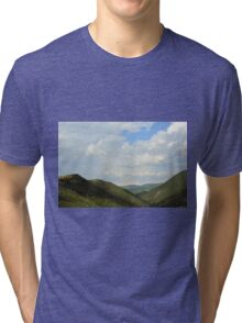 Natural landscape with the hills from Assisi. Tri-blend T-Shirt