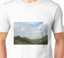 Natural landscape with the hills from Assisi. Unisex T-Shirt