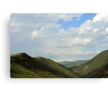 Natural landscape with the hills from Assisi. Canvas Print