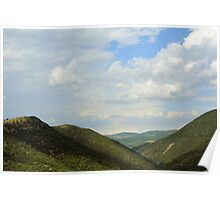 Natural landscape with the hills from Assisi. Poster