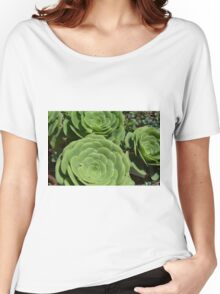 Pattern with succulents. Women's Relaxed Fit T-Shirt