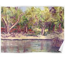 Afternoon in the Park (pastel) Poster