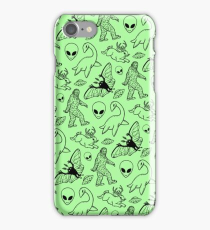 Cryptid Pattern (Green Background) iPhone Case/Skin