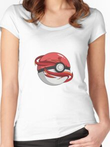 #TeamValor Pokeball Women's Fitted Scoop T-Shirt