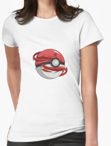 #TeamValor Pokeball Womens Fitted T-Shirt