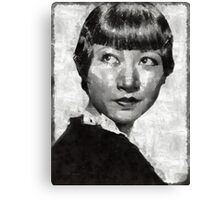 Anna May Wong Vintage Hollywood Actress Canvas Print