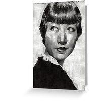 Anna May Wong Vintage Hollywood Actress Greeting Card