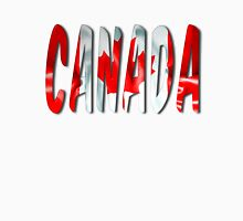 Canada Word With Flag Texture Unisex T-Shirt