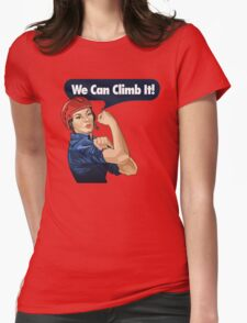 we can climb Womens Fitted T-Shirt