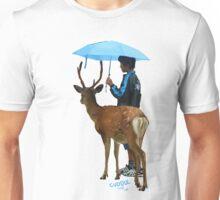 down to cuddle - deer and boy under umbrella Unisex T-Shirt