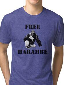 Free Harambe (Black) Tri-blend T-Shirt