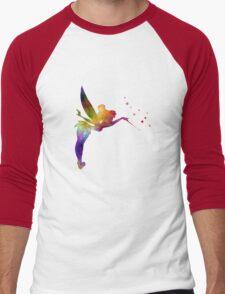 Tinkerbell in watercolor Men's Baseball ¾ T-Shirt
