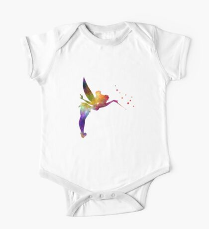 Tinkerbell in watercolor One Piece - Short Sleeve