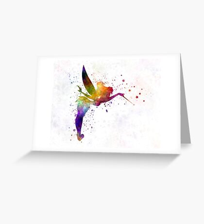 Tinkerbell in watercolor Greeting Card