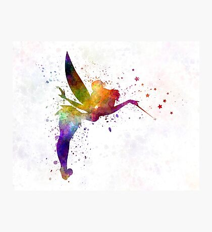 Tinkerbell in watercolor Photographic Print