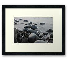 Misty Pebbles Framed Print