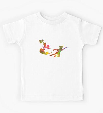 Peter Pan in watercolor Kids Tee