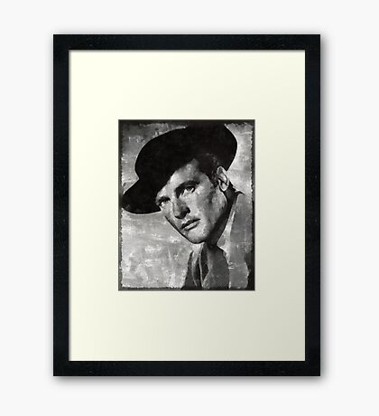 Roger Moore Hollywood Actor Framed Print
