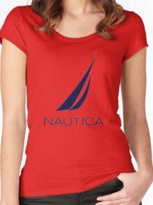 Nautica  Women's Fitted Scoop T-Shirt