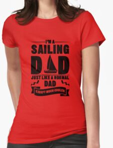 Sailing Dad 4  black Womens Fitted T-Shirt