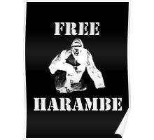 Free Harambe (White) Poster