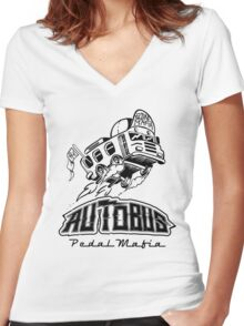 Autobus Women's Fitted V-Neck T-Shirt