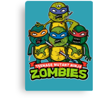Teenage Mutant Ninja Zombies Canvas Print