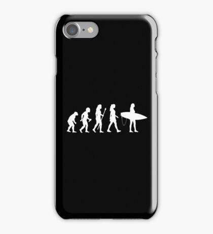 Women's Surfing T Shirt Evolution Silhouette iPhone Case/Skin