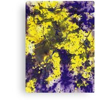 Purple and yellow abstract painting - Purple Married Yellow Canvas Print