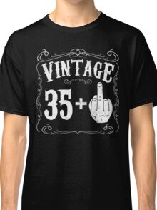 Vintage middle finger salute 36th birthday gift funny 36 birthday 1980 Classic T-Shirt