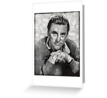Kirk Douglas by MB Greeting Card