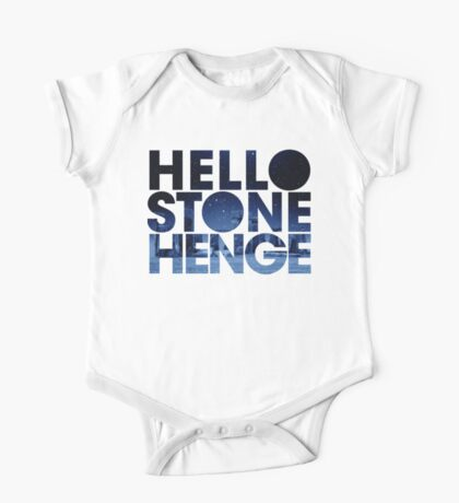 Hello Stonehenge Logo One Piece - Short Sleeve