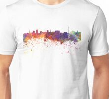 Dortmund skyline in watercolor background Unisex T-Shirt