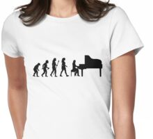Women's Piano T Shirt Evolution Of The Pianist  Womens Fitted T-Shirt